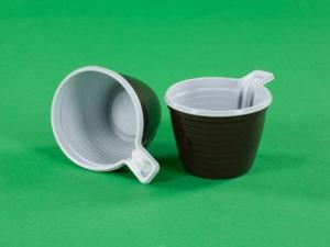Чашка кофейная 180 мл бело-коричневая