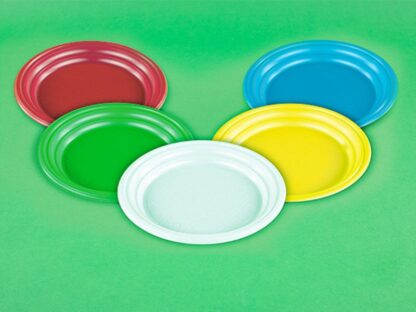 Тарелка десертная d 165 мм цветная