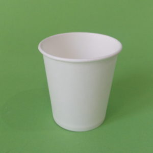 Бумажный стакан белый однослойный, 200 мл