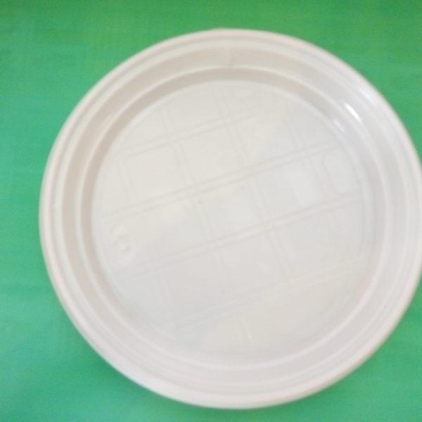 Тарелка d 205 мм белая без делений