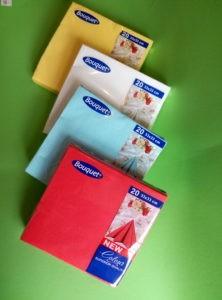 Салфетки бумажные цветные однотонные