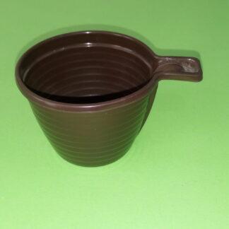 Чашка кофейная 180 мл коричневая