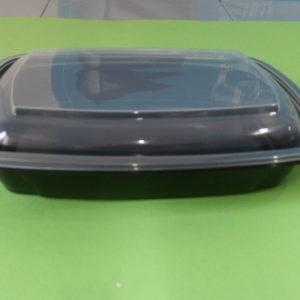 Контейнер Ланч-бокс К-230/700мл черный с крышкой