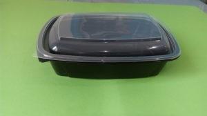 Контейнер Ланч-бокс К-230/1000мл черный с крышкой